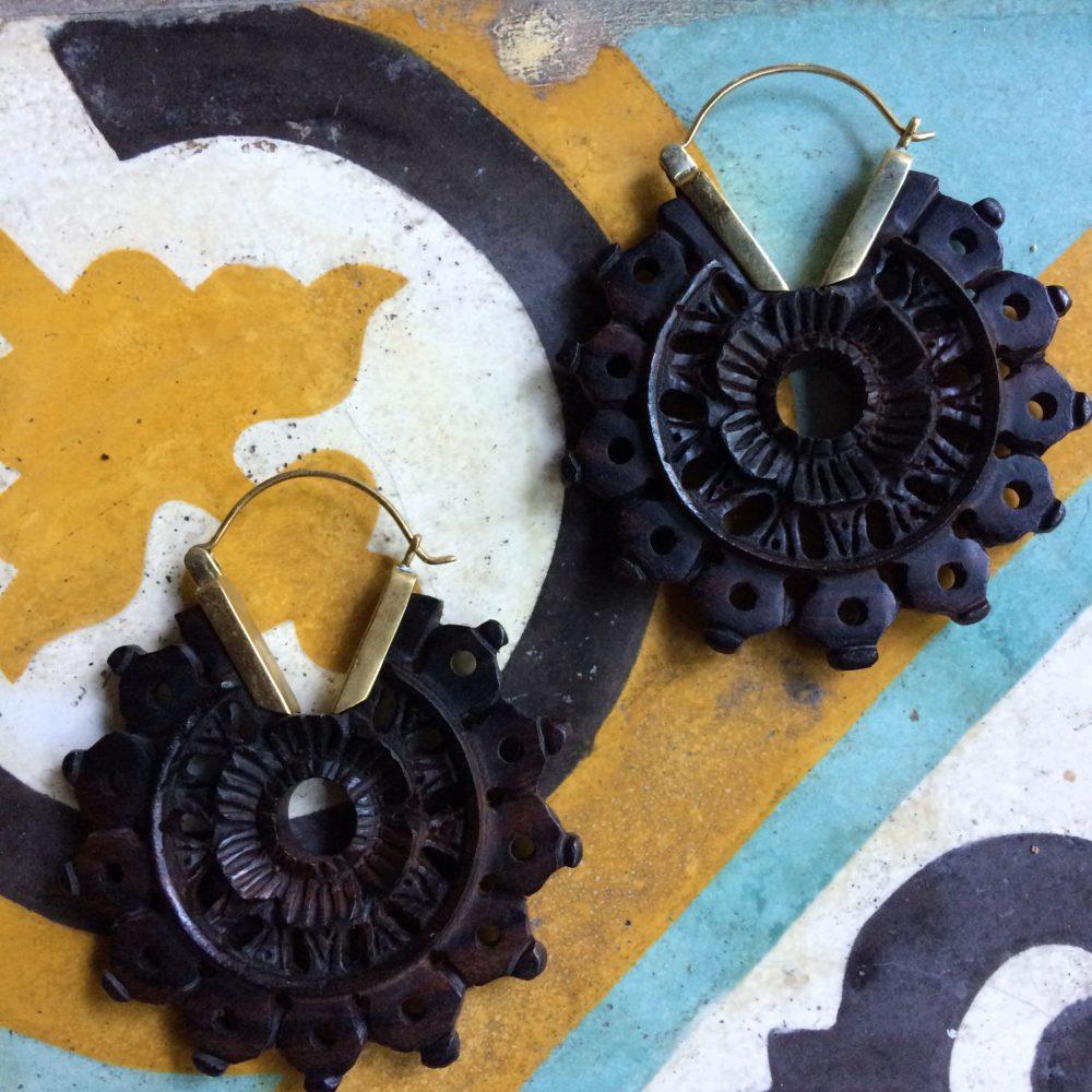 Wooden Earrings W03