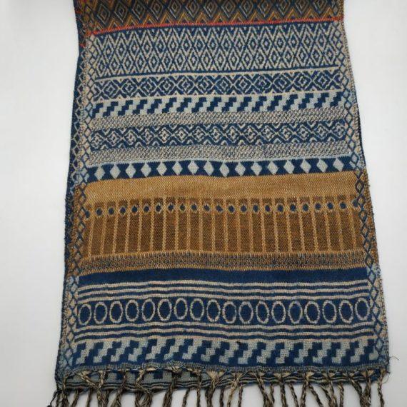324 Unisex Acrylic scarf blue