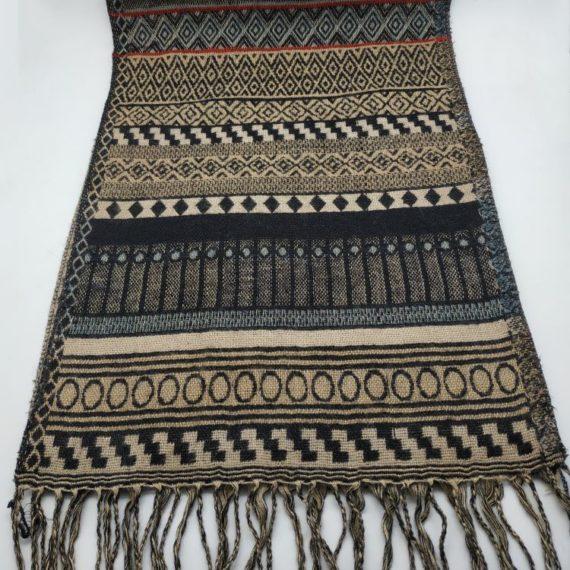 324 Unisex Acrylic scarf black