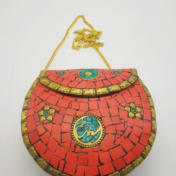 517 Brass Bag with red color