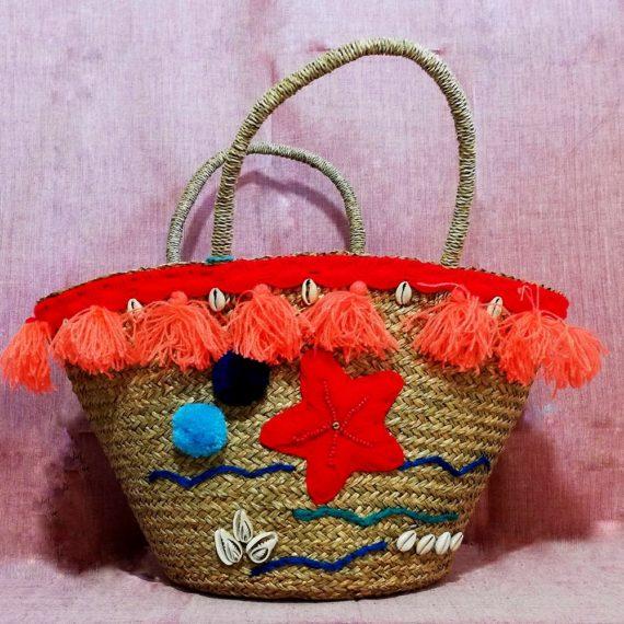 01539 Sea life basket bag